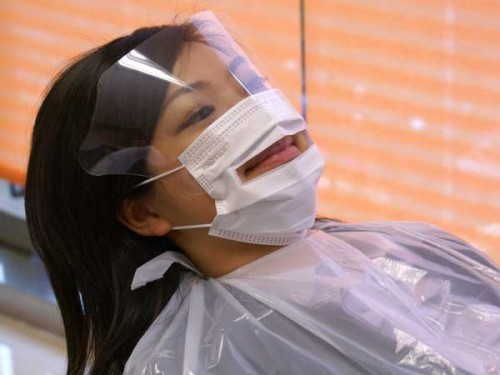 Absorbent Mask + Shield (For dental patient use)