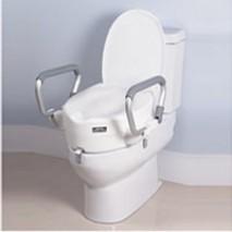 Raised Toilet Seat Armrest