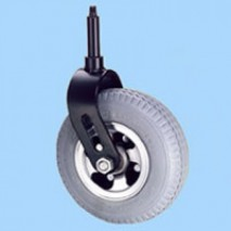 Front castor for power wheelchair